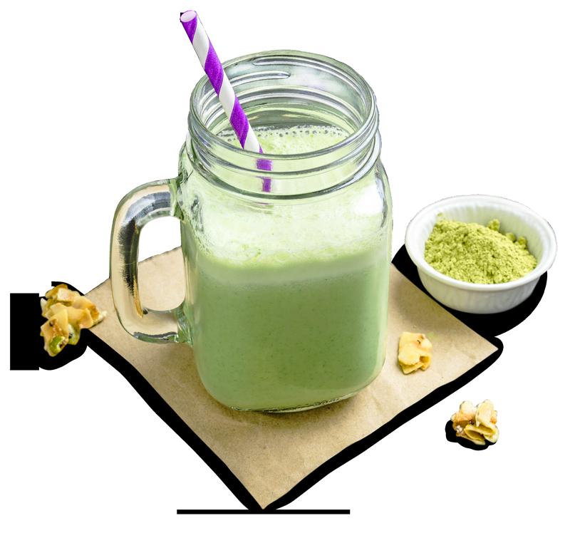 Matcha tea Milkshakes and smoothies